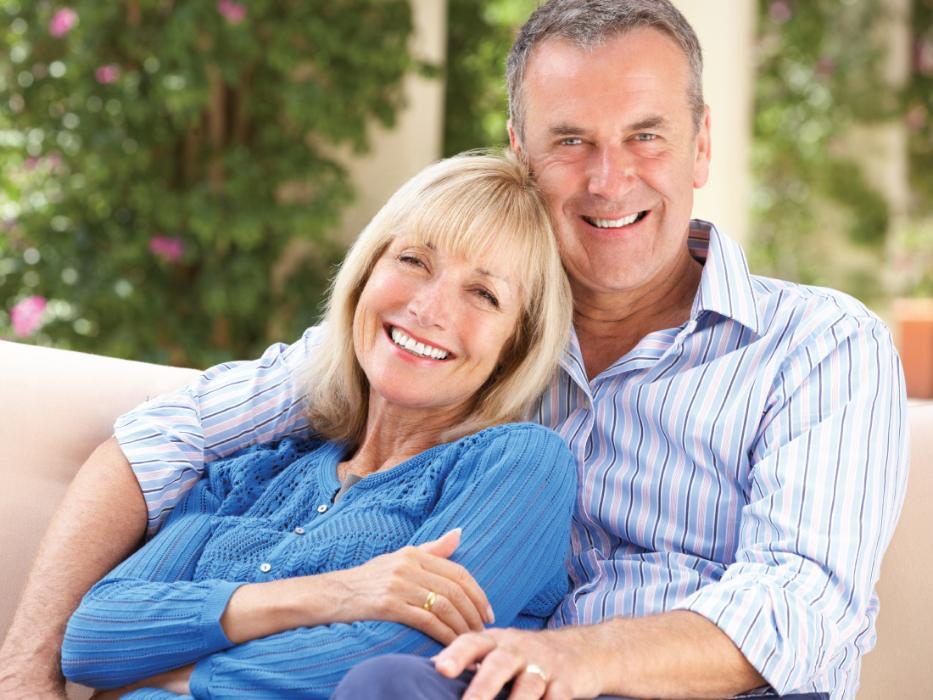 Couple with dental crowns in sarasota