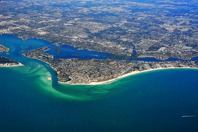 arial view of siesta key